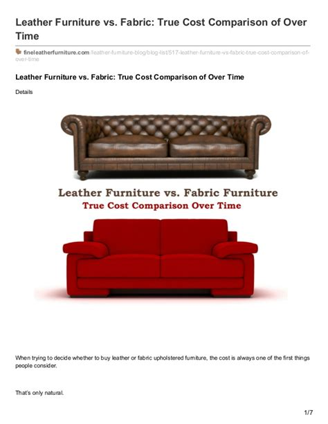 Leather Upholstery Cost by Wellington S Leather Furniture Vs Fabric True Cost