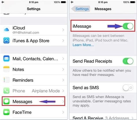 how to turn on imessage on iphone how to fix imessage not working in ios 9 iphone 6s 6 plus