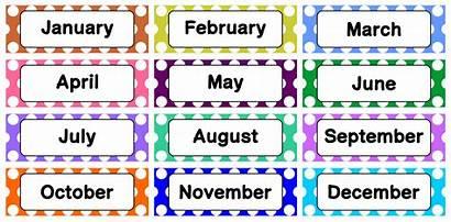 Calendar Printable Months Classroom Month Labels Printablee