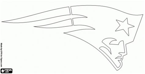 new england patriots logo coloring page free printable