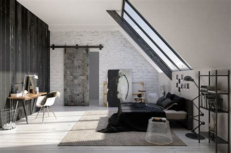 Industrial Style Bedroom Home Is Where Your Sofa Is