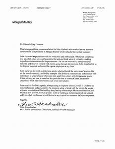morgan stanley letter of rec With cover letter for morgan stanley