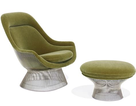 platner easy chair and ottoman hivemodern