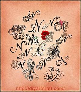 Letter n tattoo for my son   Tattoos   Pinterest ...