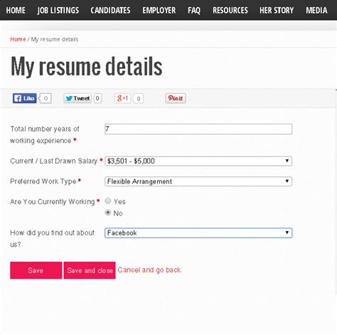 create a resume profile with us now careermums