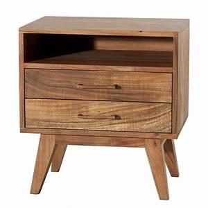Table En Acacia : table de chevet en acacia style retro pas cher tikamoon ~ Teatrodelosmanantiales.com Idées de Décoration