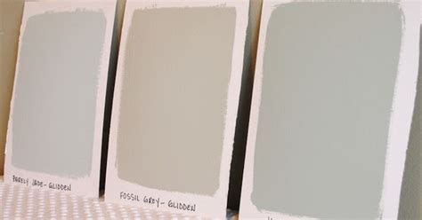 glidden paint colors barely jade barely jade fossil grey and jade glidden paint