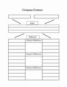 compare contrast essay graphic organizer | Compare ...