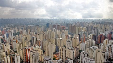 Sao Paulo City Megapole South America Brazil Buildings ...