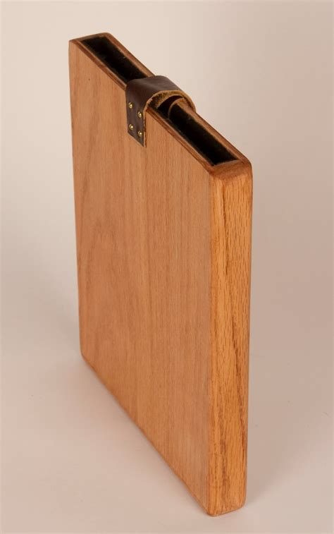ipad hard wooden case    wood  leather