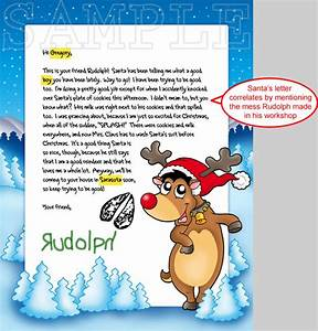 letters from santa With personalized letter from santa claus from rudolph express