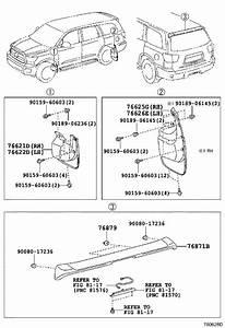 2019 Toyota Sequoia Spoiler Clip  Rear   Limd  Interior  Body