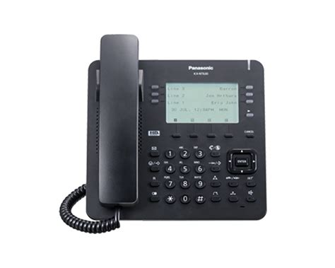 panasonic kx nt ip phone black