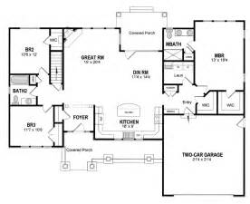 Ranch House Floor Plans with Kitchen in Front