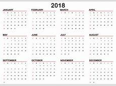 2018 Calendário planner template vector Baixar vetores
