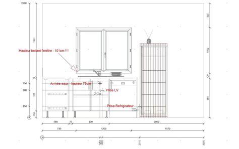 hauteur plan de travail cuisine hauteur standard plan de travail cuisine id 233 e d 233 coration