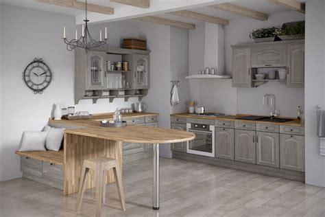 Meuble cuisine bois gris - Le bois chez vous