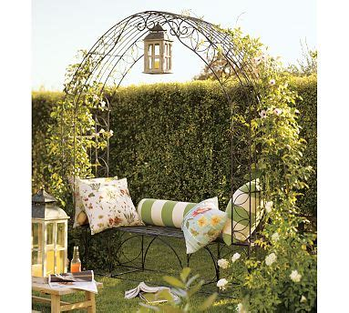 Garden Bench With Trellis by Garden Nooks On Arbors Garden Seats And