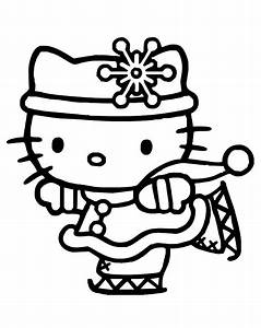 Hello kitty winter coloring pages for kids printable free ...