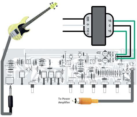Bass Guitar Preamp Pedal Diy Schematic Pcb Design