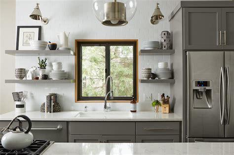 floating kitchen shelves transitional kitchen