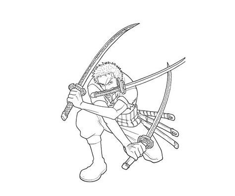 how to color one roronoa zoro coloring page free printable