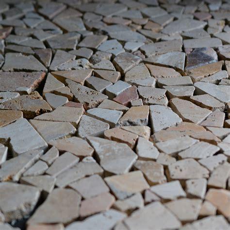 Rock Backsplash Mosaic   Natural Stone Scabos Travetine