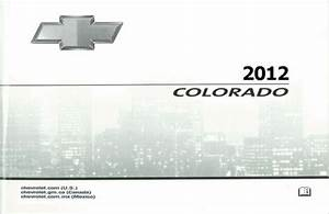2012 Chevrolet Colorado Owners Manual User Guide Reference
