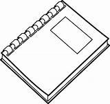 Notebook Spiral Clip Clipart Vector Clker sketch template