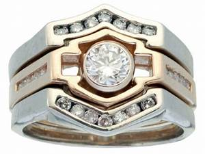 the harley davidson wedding rings for the biker wedding With biker wedding ring sets