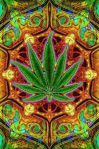 American Weed Hippie Art ~ Marijuana | aH!9h€r P/an€ of €>