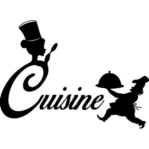 logo chef de cuisine sticker cuisine silhouette chef de cuisine stickers cuisine textes et recettes ambiance sticker