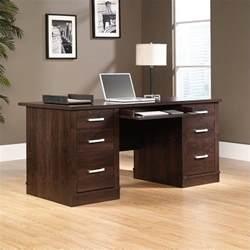 executive computer desk in dark alder 408289