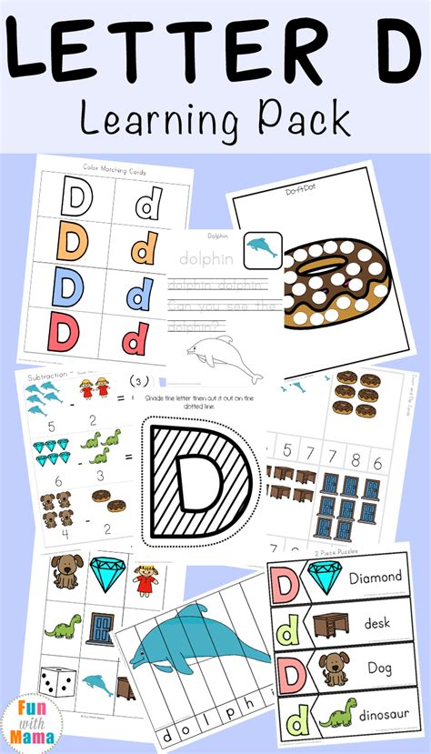 letter d worksheets activities with 369 | Letter D Learning Pack 1