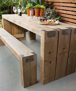 How to create an outdoor table and benches - DIY
