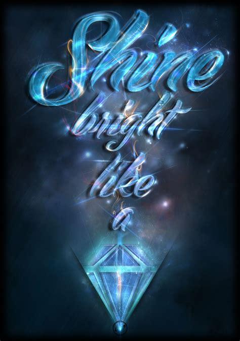 shine bright   diamond  sisth  deviantart shine bright   diamond gold text