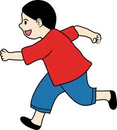 Little Boy Running Clip Art