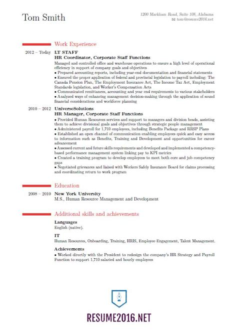 Resume Guidelines by New Resume Format 2016 7 Things In Your 2016 Resume