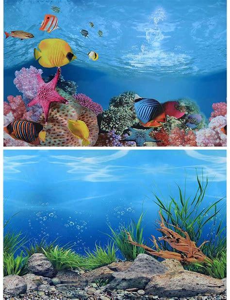 cmh pvc double sided aquarium background poster