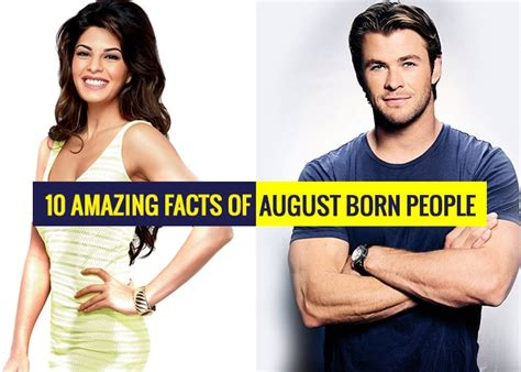 10 Amazing Facts Of August Born People - Revive Zone ...