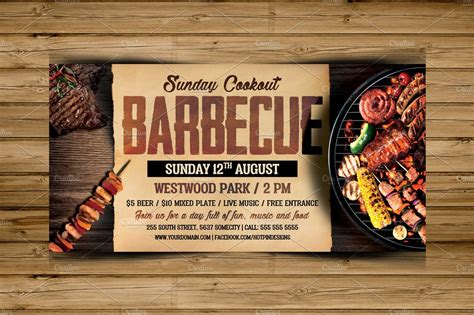 barbecue bbq flyer template flyer templates creative
