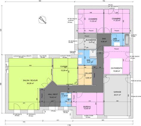 plans maisons plain pied 3 chambres plan maison plain pied 4 chambres en u