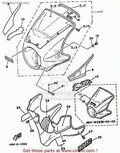 Yamaha Rz350 1984  E  Usa Fairing-cowling
