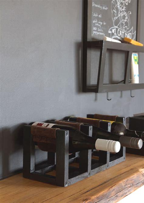 diy wine rack  leather sling