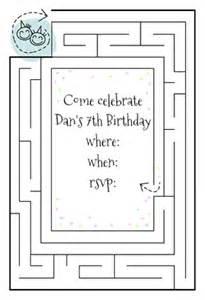 birthday maze free printable birthday invitation template greetings island