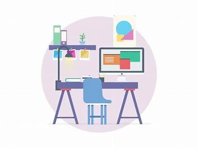Workspace Graphic Designer Animated Animation Dribbble