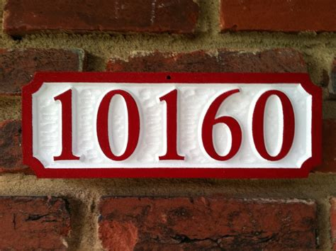 custom house number sign    numbers  carving