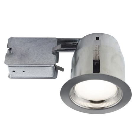 recessed heat l fixture bazz 5 in brushed chrome intergrated led recessed fixture