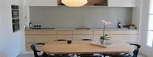 Crédence Béton Ciré : b ton cir cuisine pour sols murs cr dences sur carrelage ancien ~ Mglfilm.com Idées de Décoration