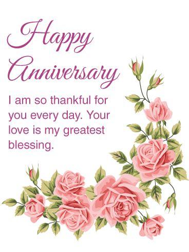 thankful   happy anniversary card birthday